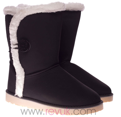 Button Fur Boots By Revuk The Daily Grind