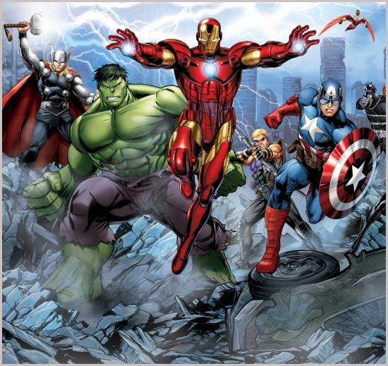 Fantastic childrens bedroom murals the daily grind for Avengers wall mural uk
