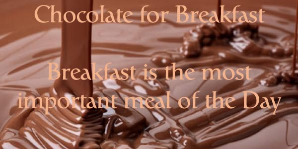 Could Chocolate For Breakfast Make You Thin? Woo Hoo :)