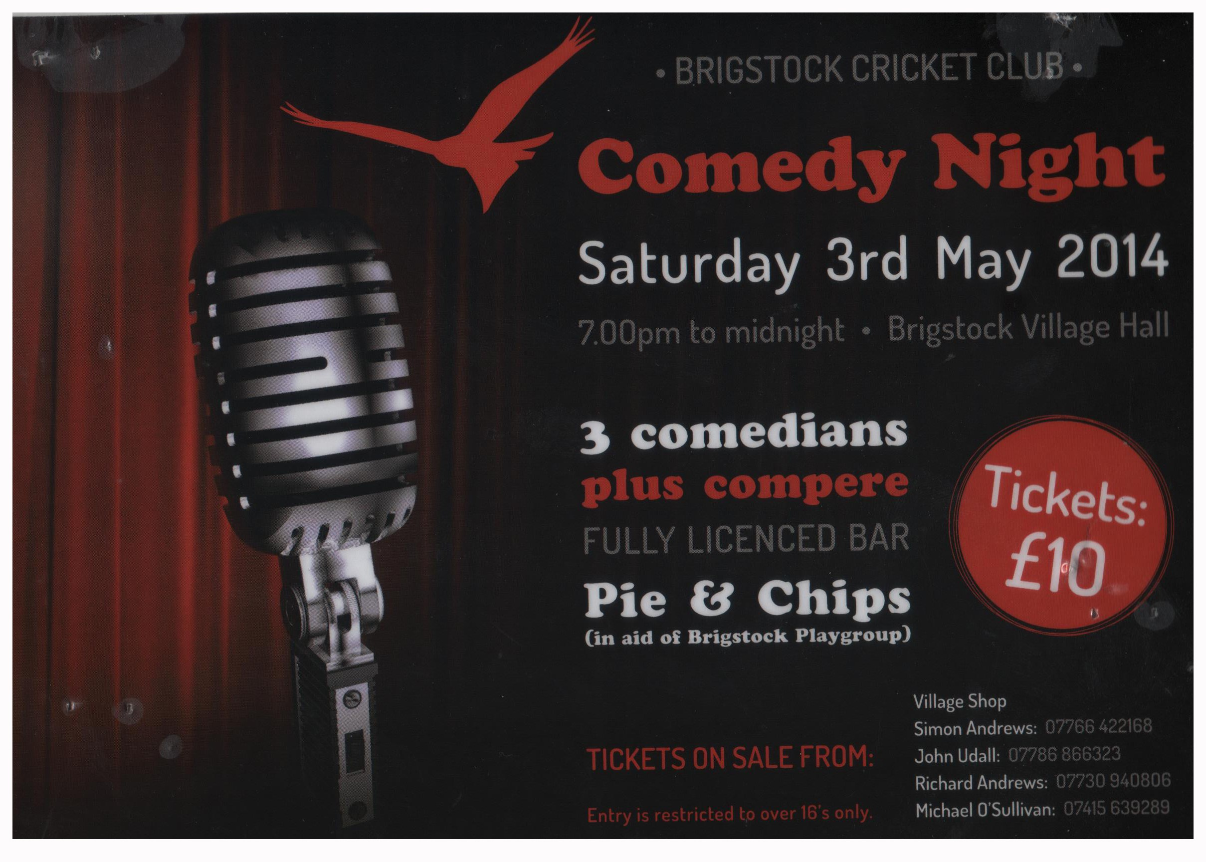 Brigstock Comedy Night