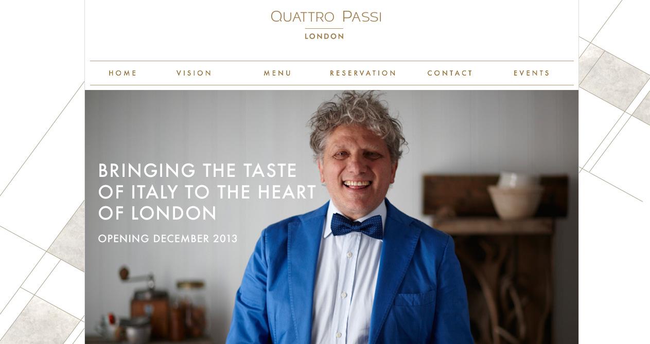 Quattro Passi Italian restaurant London