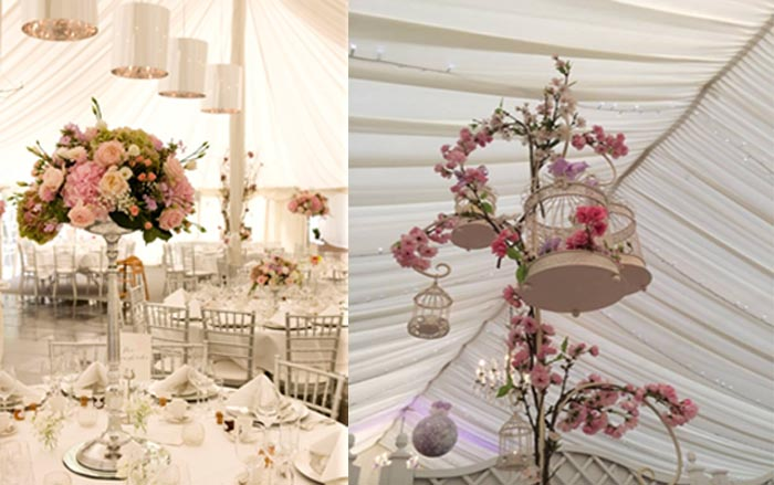 Jades Flowers - Marquee Wedding - Le Talbooth