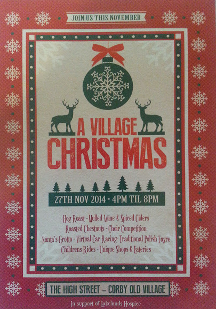 A Village Christmas, the High Street, Corby Old Village