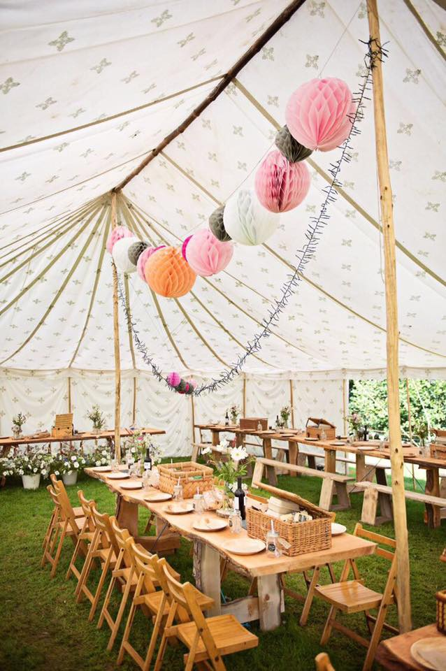 Wedding Marquee in Brogstock at Hill Farm House - The Daily Grind